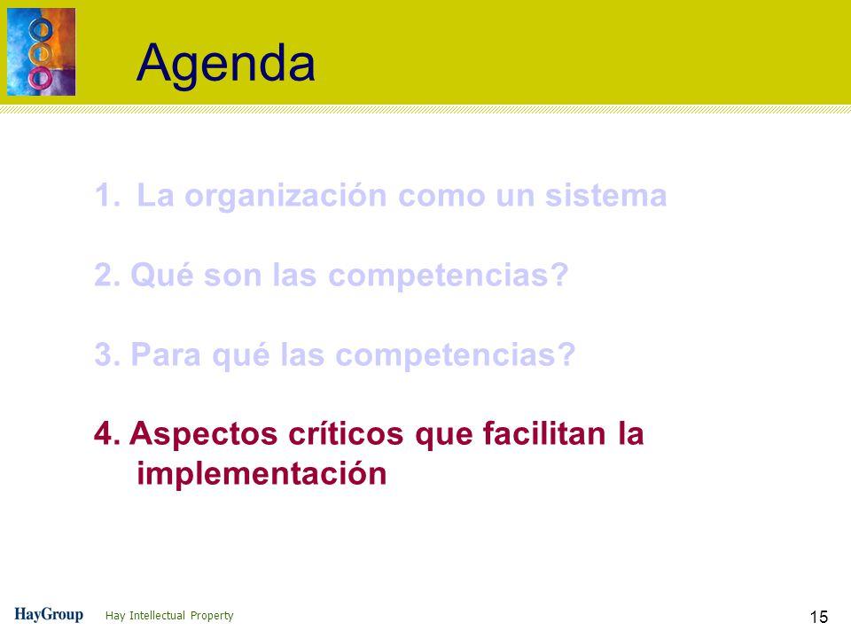 Agenda La organización como un sistema 2. Qué son las competencias