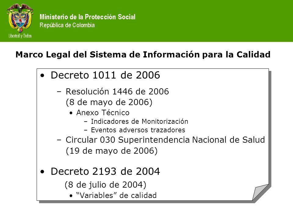 Marco Legal del Sistema de Información para la Calidad