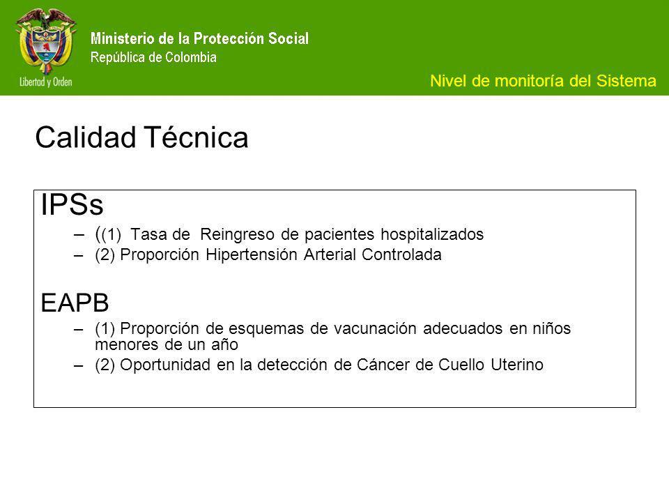 Calidad Técnica IPSs EAPB
