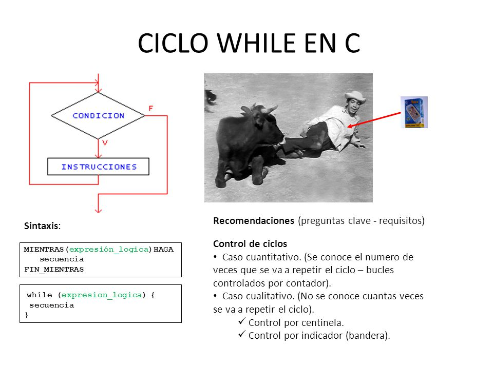 CICLO WHILE EN C Recomendaciones (preguntas clave - requisitos)