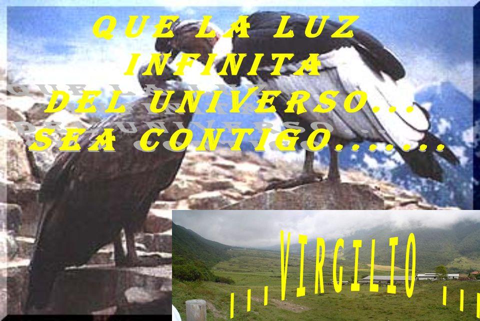 QUE LA LUZ INFINITA DEL UNIVERSO... SEA CONTIGO....... ...VIRGILIO ...