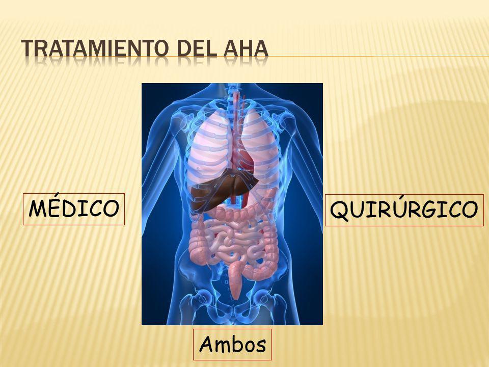 tratamiento del AHA MÉDICO QUIRÚRGICO Ambos