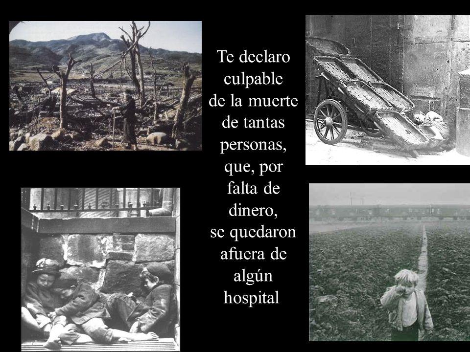 de la muerte de tantas personas,
