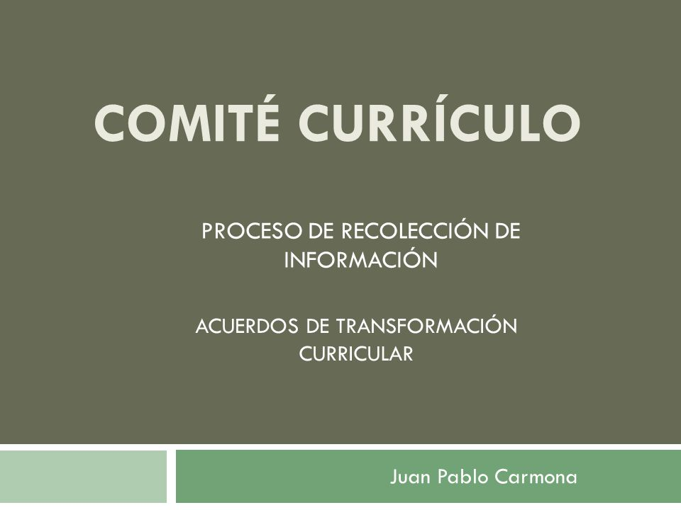 PROCESO DE RECOLECCIÓN DE INFORMACIÓN