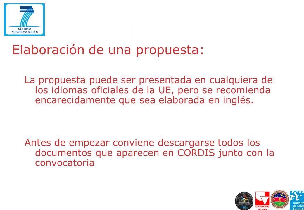 Elaboración de una propuesta: