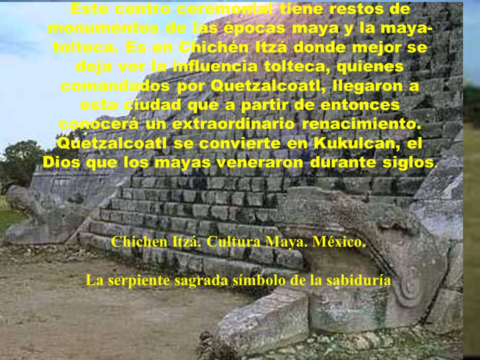 Chichen Itzá. Cultura Maya. México.
