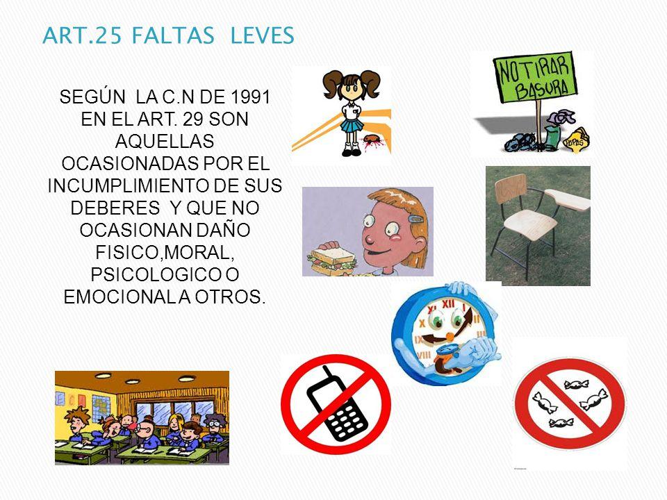 ART.25 FALTAS LEVES