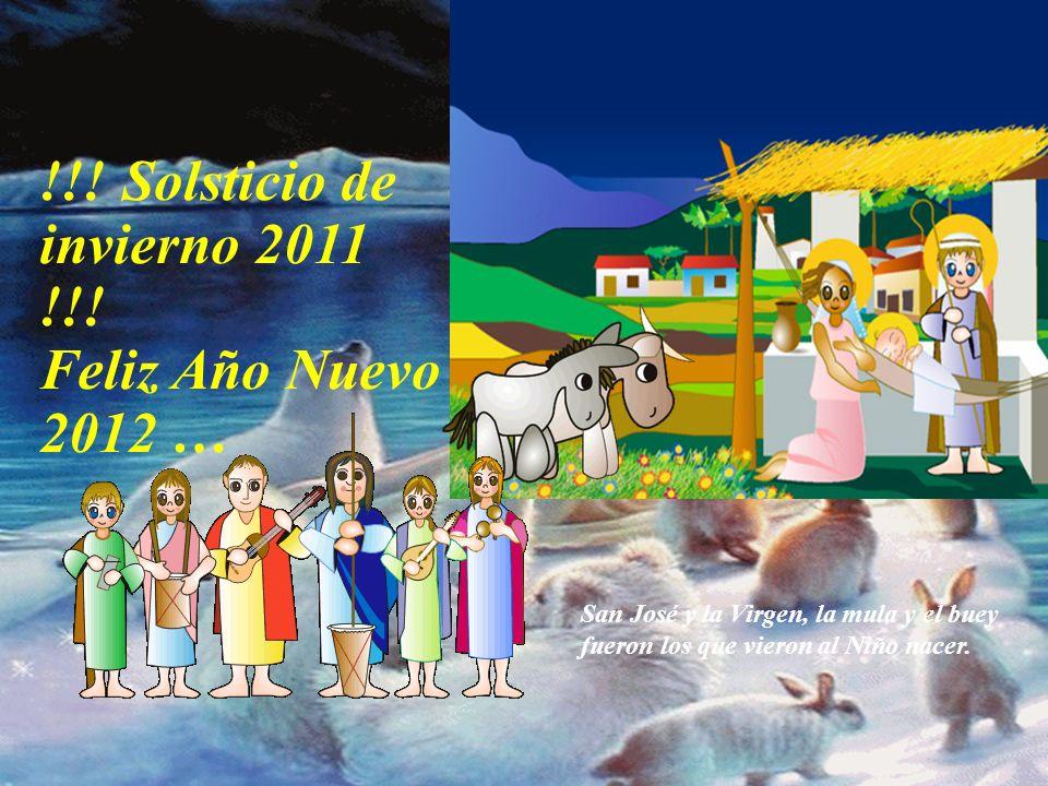 San José y la Virgen, la mula y el buey fueron los que vieron al Niño nacer.