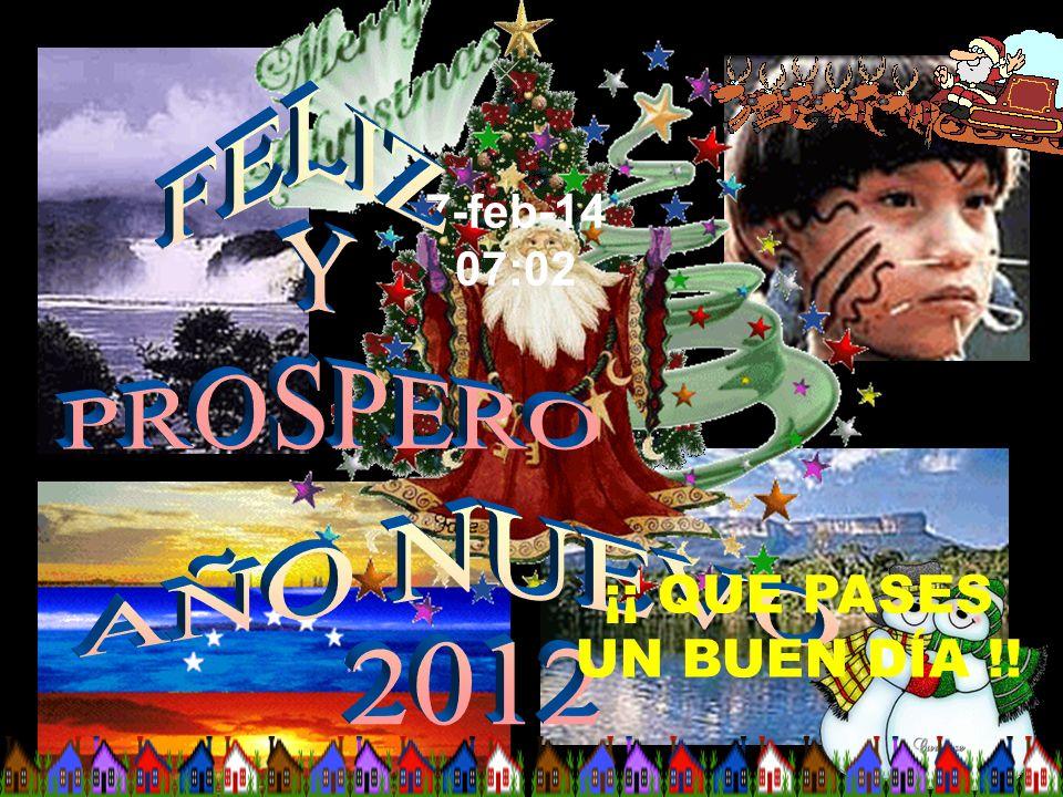 FELIZ Y PROSPERO AÑO NUEVO 2012 ¡¡ QUE PASES UN BUEN DÍA !!