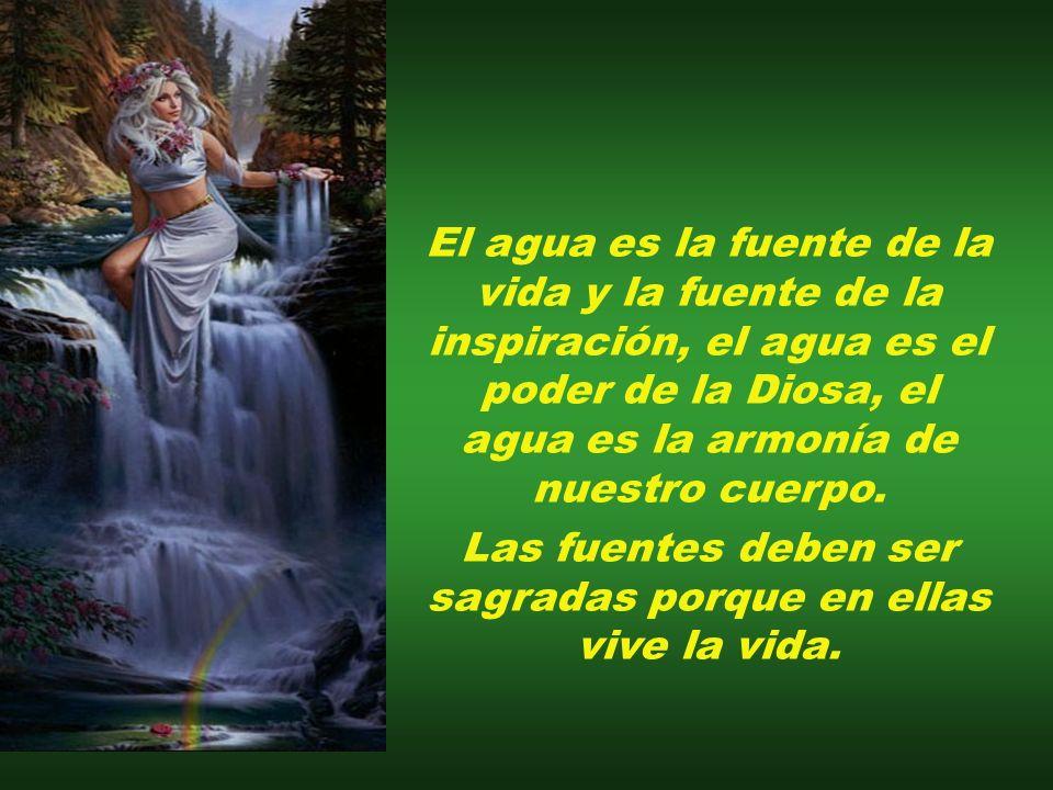 Las fuentes deben ser sagradas porque en ellas vive la vida.