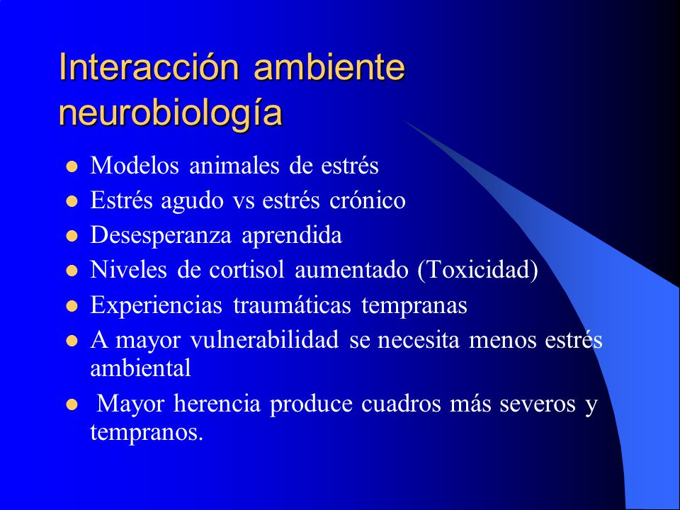 Interacción ambiente neurobiología