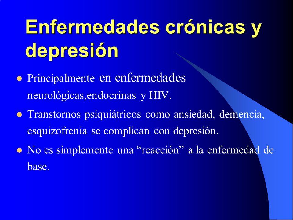 Enfermedades crónicas y depresión