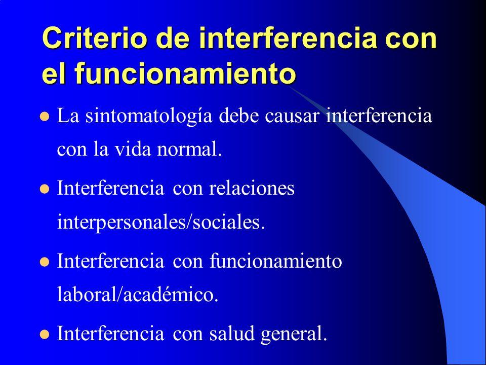 Criterio de interferencia con el funcionamiento