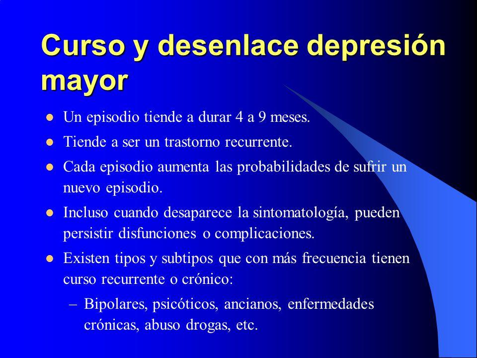Curso y desenlace depresión mayor