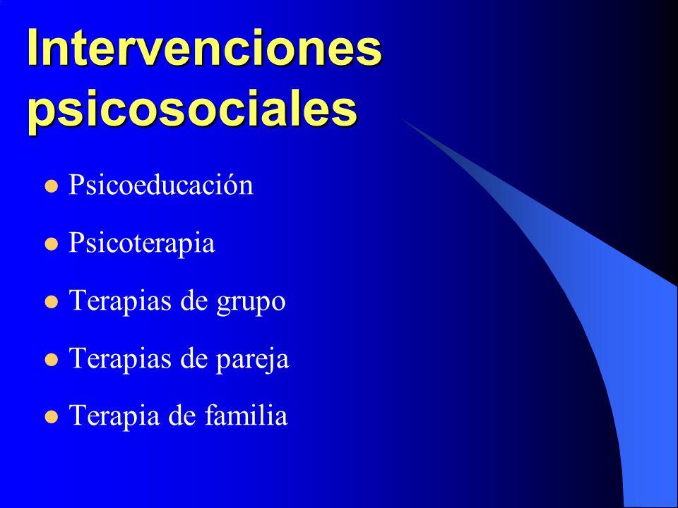 Intervenciones psicosociales