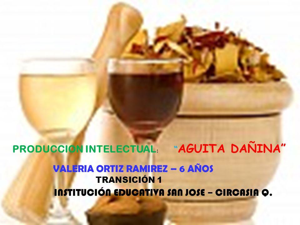 PRODUCCION INTELECTUAL: AGUITA DAÑINA