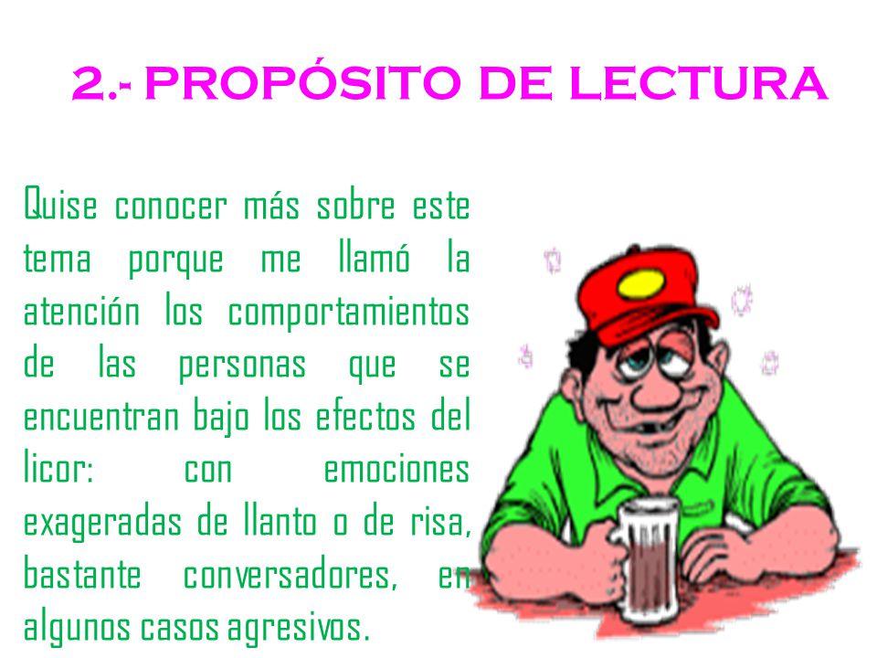 2.- PROPÓSITO DE LECTURA