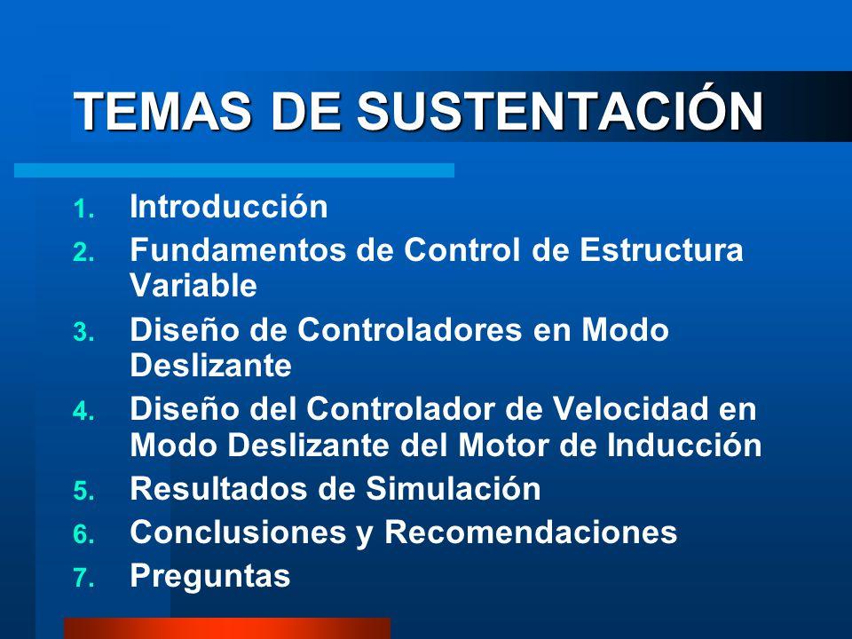 TEMAS DE SUSTENTACIÓN Introducción
