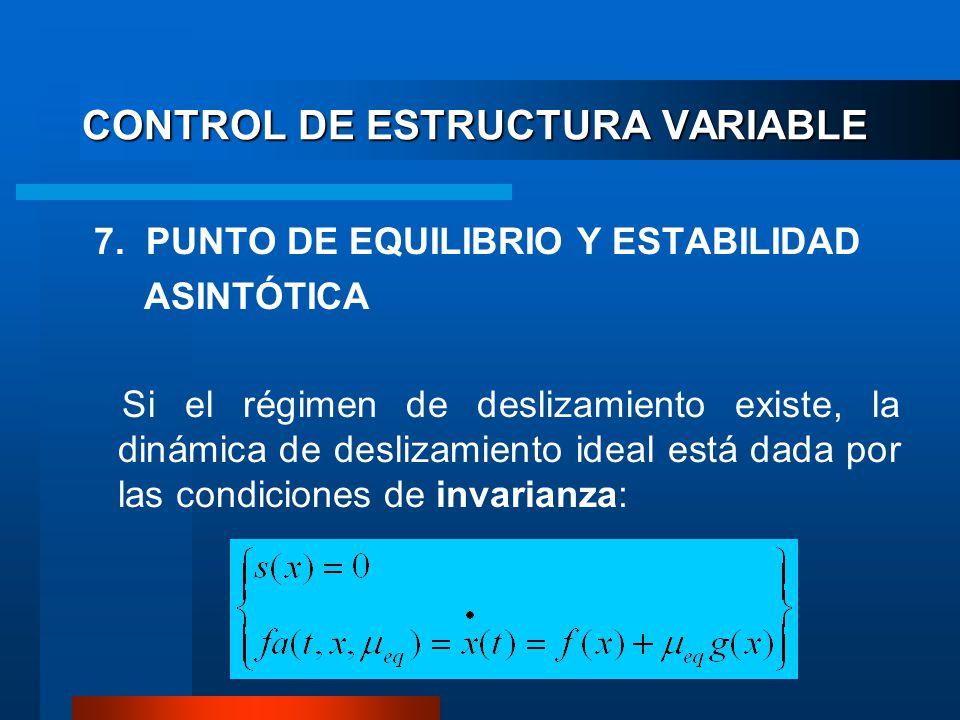 CONTROL DE ESTRUCTURA VARIABLE