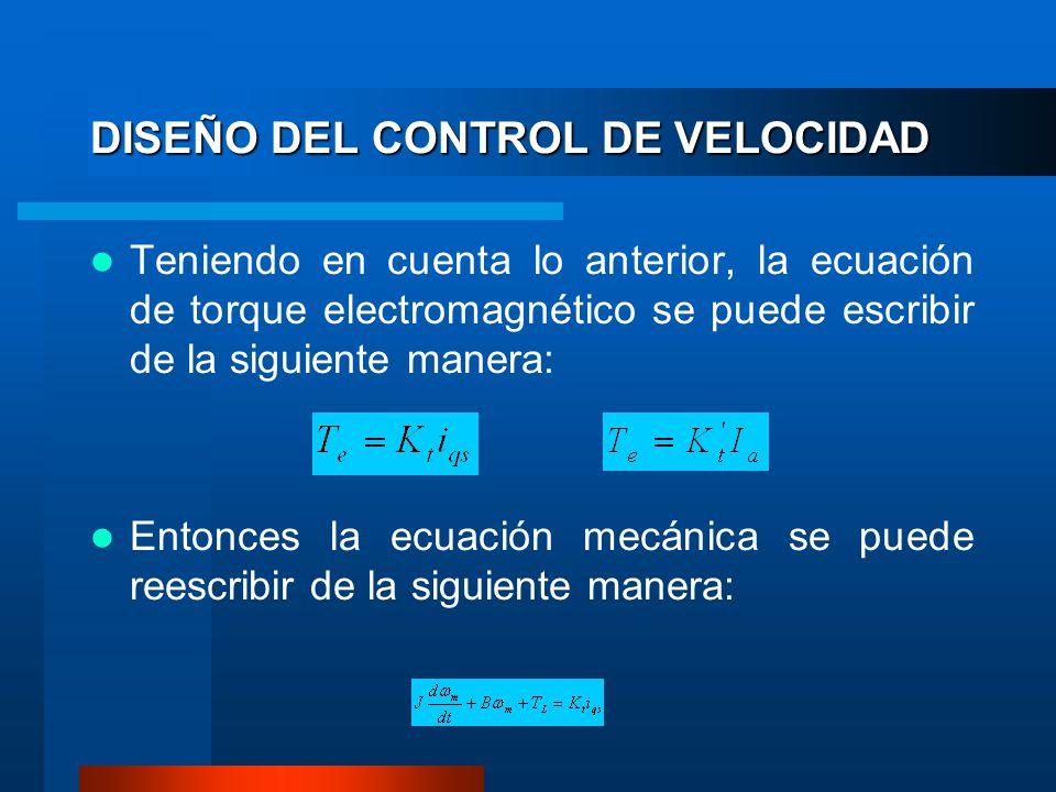 DISEÑO DEL CONTROL DE VELOCIDAD