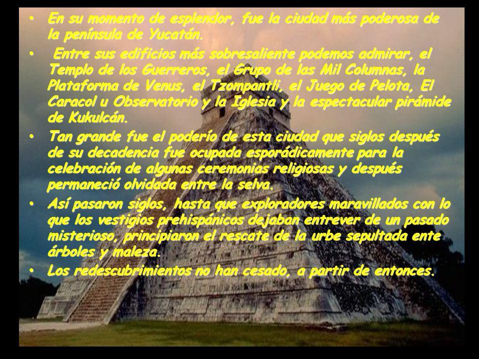 En su momento de esplendor, fue la ciudad más poderosa de la península de Yucatán.