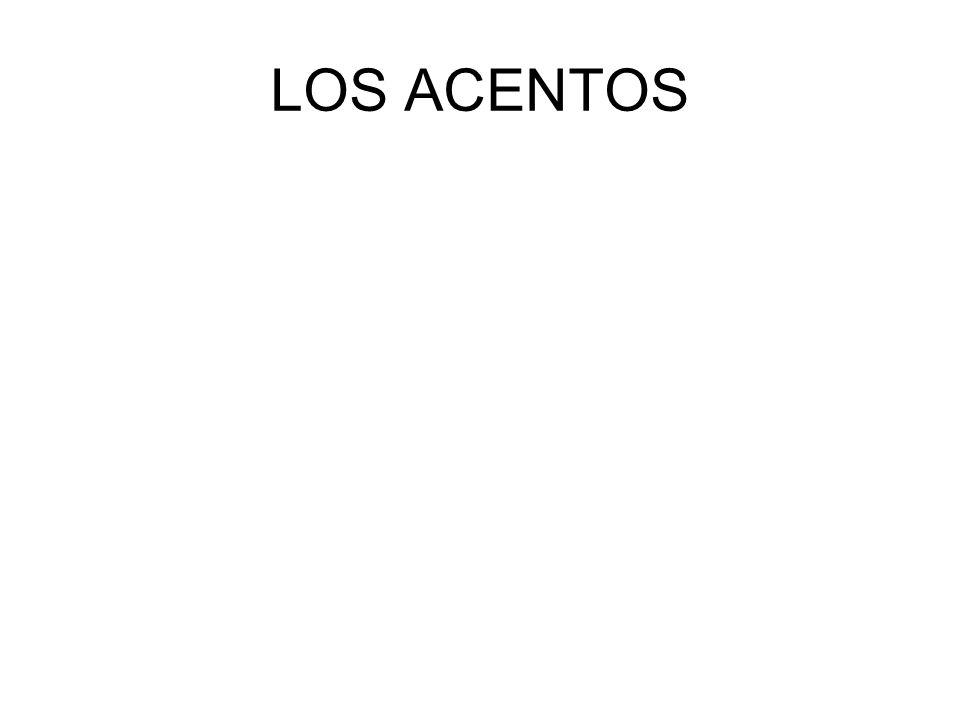 LOS ACENTOS