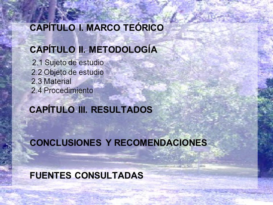 2.1 Sujeto de estudio CAPÍTULO II. METODOLOGĺA