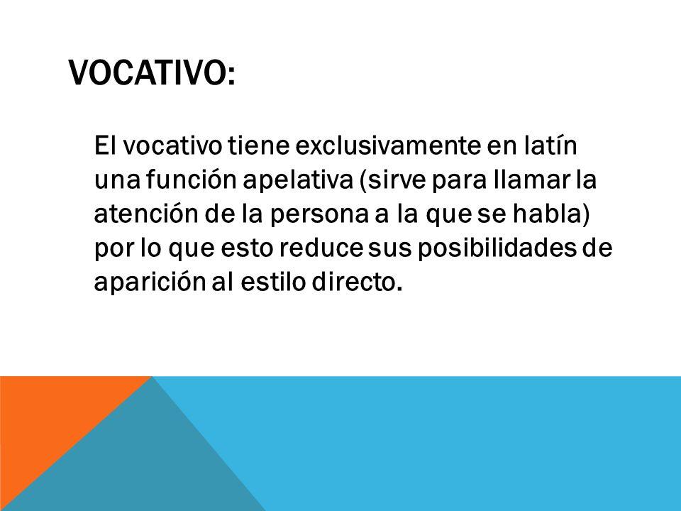 VOCATIVO:
