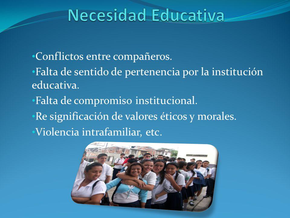 Necesidad Educativa Conflictos entre compañeros.