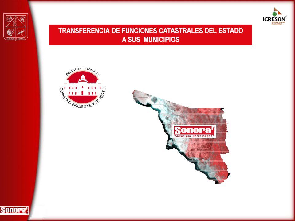 TRANSFERENCIA DE FUNCIONES CATASTRALES DEL ESTADO