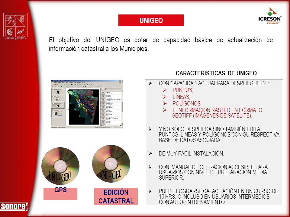 CARACTERISTICAS DE UNIGEO