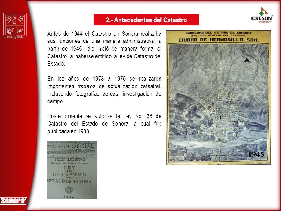 2.- Antecedentes del Catastro