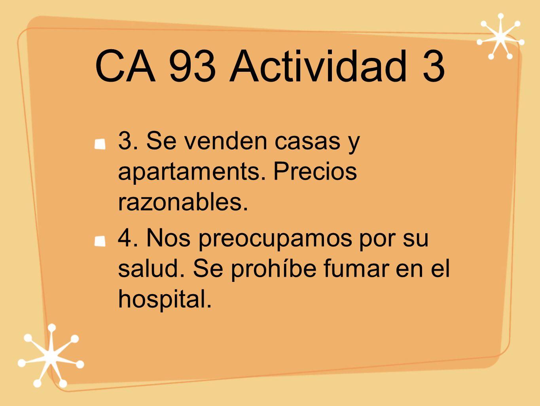 CA 93 Actividad 3 3. Se venden casas y apartaments.