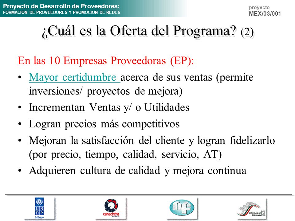 ¿Cuál es la Oferta del Programa (2)