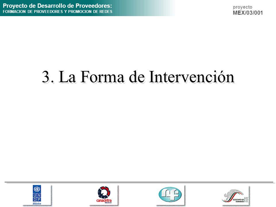 3. La Forma de Intervención