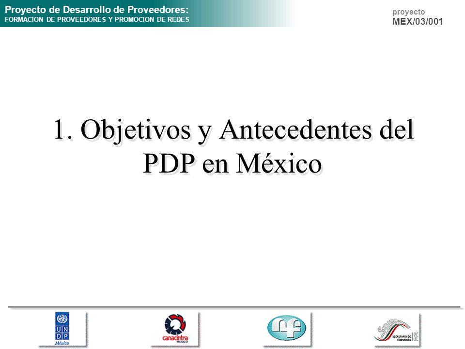 1. Objetivos y Antecedentes del PDP en México