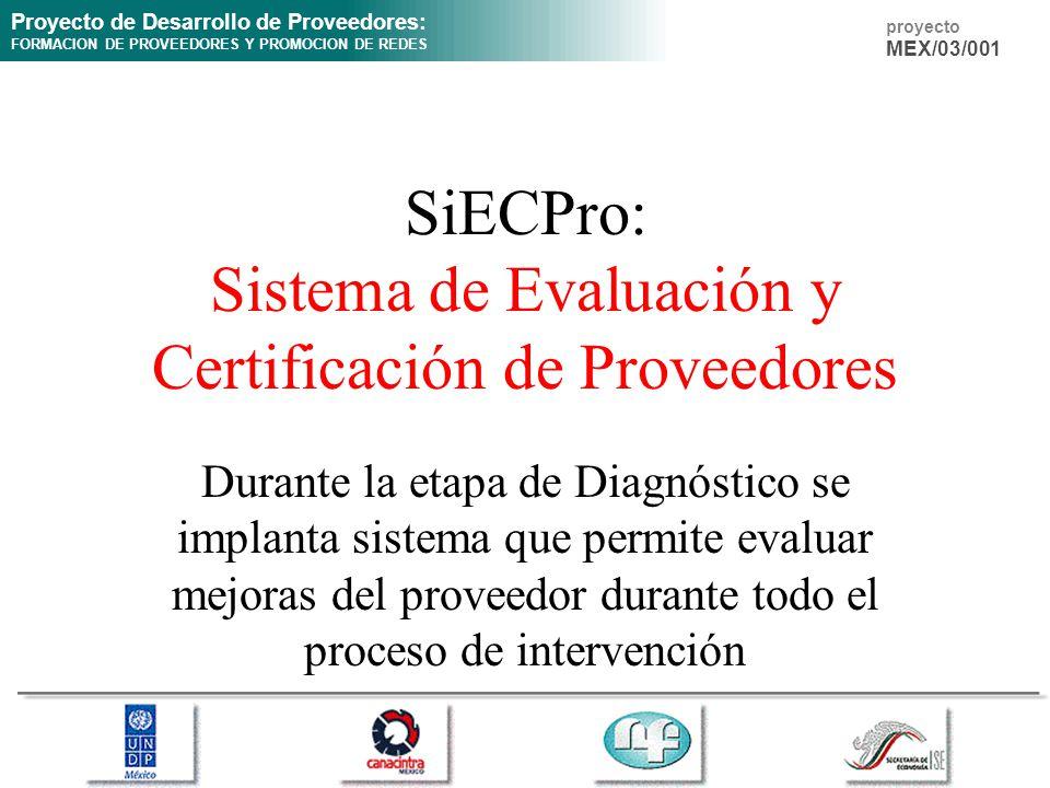 SiECPro: Sistema de Evaluación y Certificación de Proveedores