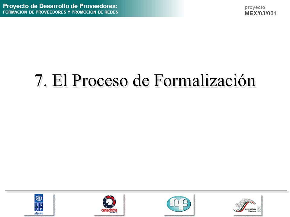 7. El Proceso de Formalización