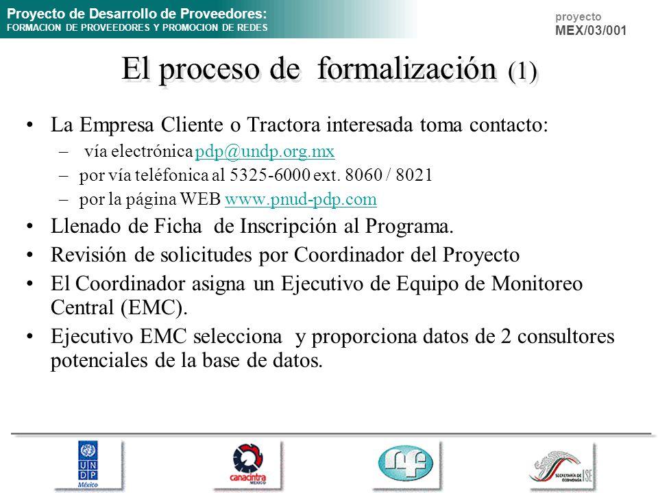 El proceso de formalización (1)