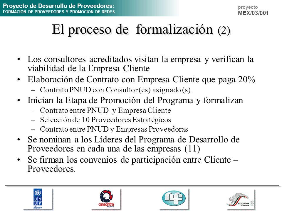 El proceso de formalización (2)