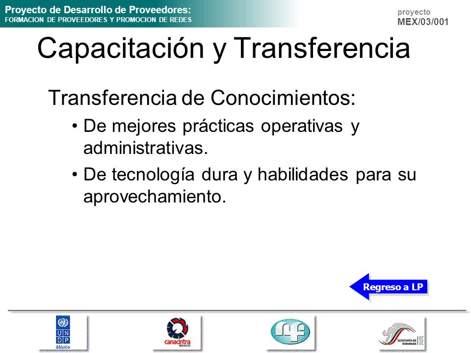 Capacitación y Transferencia