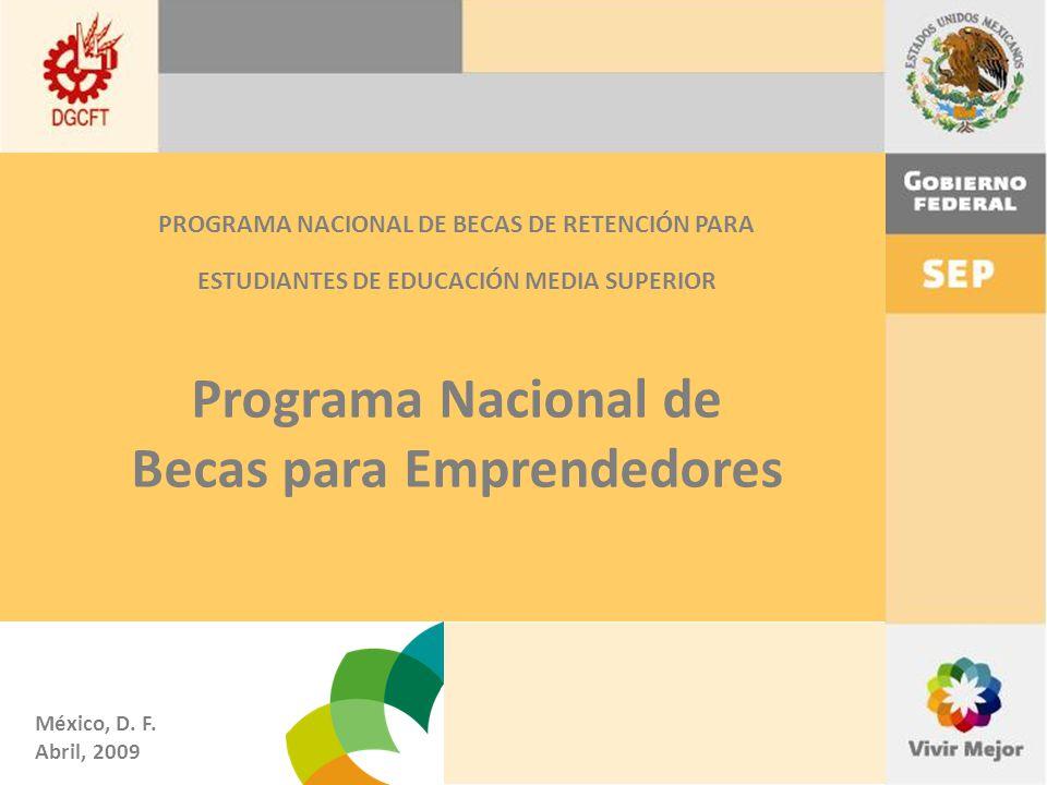 Programa Nacional de Becas para Emprendedores