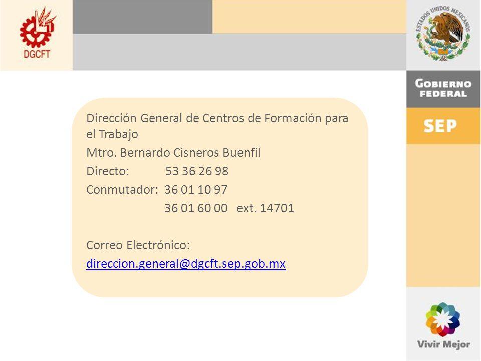 Dirección General de Centros de Formación para el Trabajo
