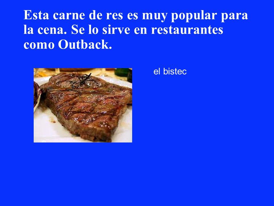 Esta carne de res es muy popular para la cena