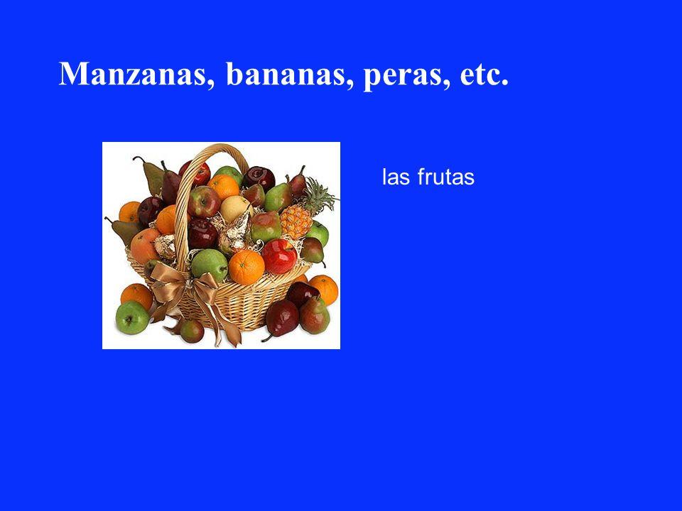 Manzanas, bananas, peras, etc.