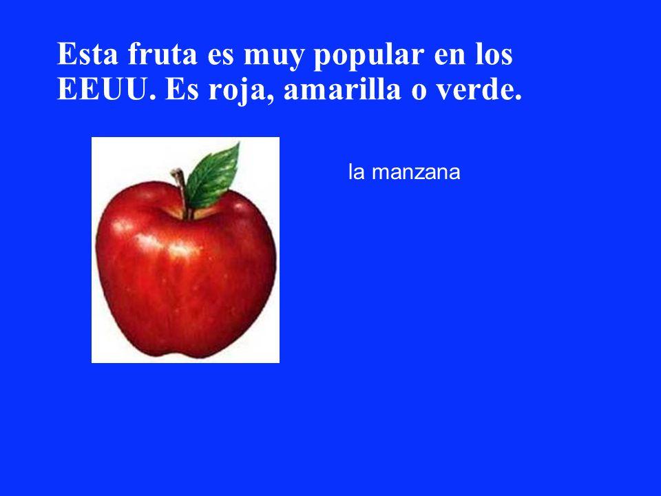 Esta fruta es muy popular en los EEUU. Es roja, amarilla o verde.