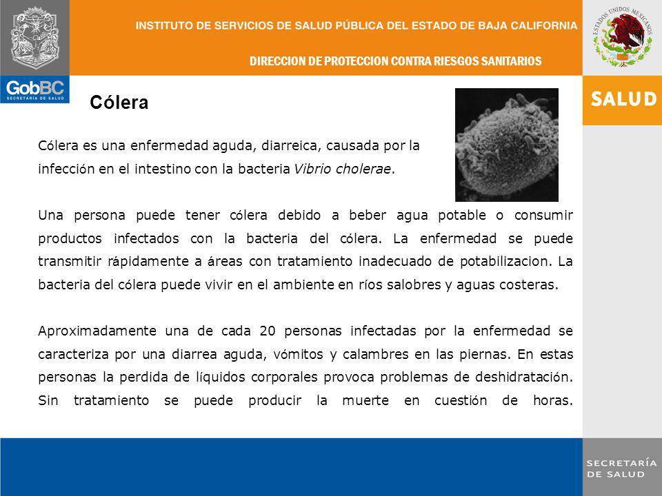 Cólera Cólera es una enfermedad aguda, diarreica, causada por la