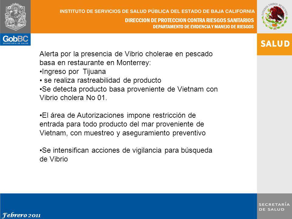 Alerta por la presencia de Vibrio cholerae en pescado basa en restaurante en Monterrey:
