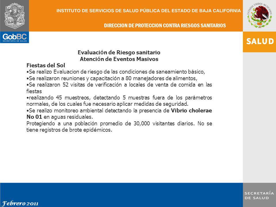 Evaluación de Riesgo sanitario Atención de Eventos Masivos