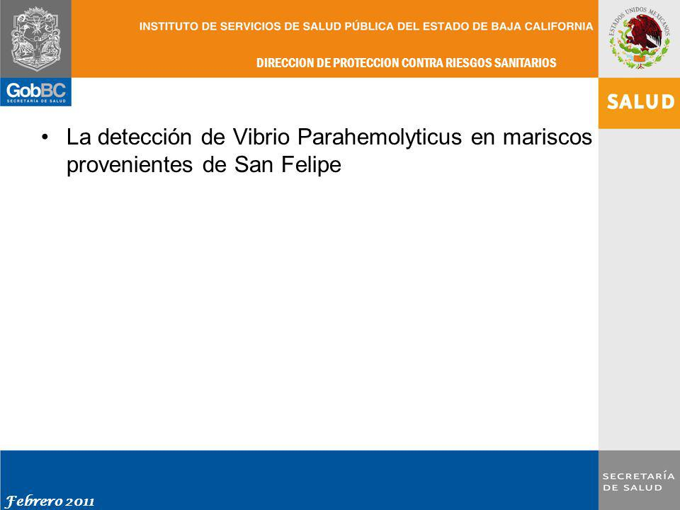 La detección de Vibrio Parahemolyticus en mariscos provenientes de San Felipe